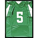 Amateurishly framed football shirt in a ready-made-frame