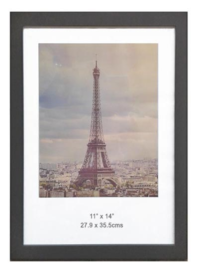 – 11x14-black-wood-ready-made-picture-frame-with-clear-glass