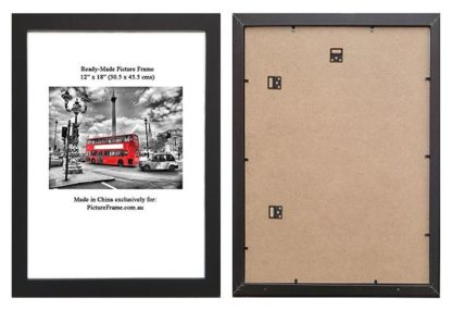 12x18-Black-Wood-Ready-Made-picture-Frame-(suits-30.5x45.5-cms-paper)-with-Clear-Glass-large