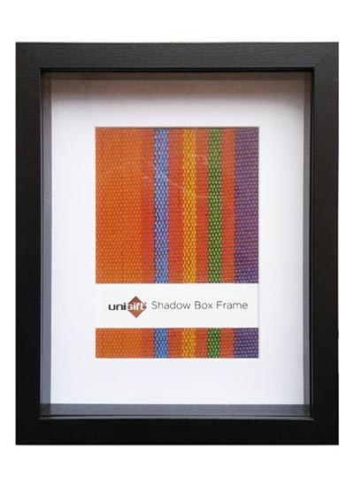 15.2x20.3cm-Black-Wood-Shadow-Box-Frame-mat-fits-10x15cms-pic.-and-clear-glass