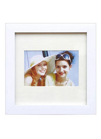 30x30cms-White-Square-Photo-Frame-mat-suits-6x8-pic.-with-clear-glass