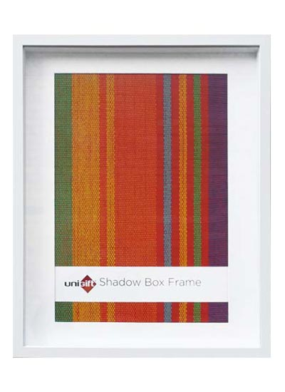 40x50-cms-white-shadow-box-3D-wood-frame-with-A3-opening-and-clear-glass