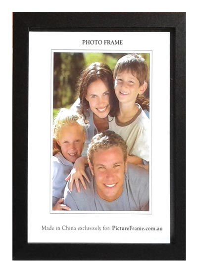 """5""""x7"""" Black Wood Photo Frame"""