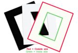 """8""""x10"""" (20x25cms) Mats for photo frames and picture frames (Pack of 6 mats to suit inner size 4""""x6"""", 5""""x7"""", 6""""x8"""" & A5)-large"""