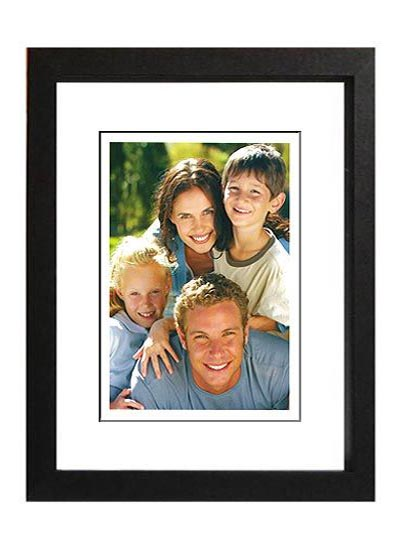 8x12-black-wood-photo-frame-with-4x6=opening-clear-glass-and-stand