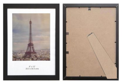 8x12-black-wood-ready-made-wood-picture-frame-with-clear-glass-and-stand-large