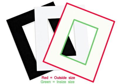 A1 (59.4 x84.1cms) Mats for photo frames and picture frames (Pack of 6 mats to suit inner size A2, 16x20, 16x24 & 20x28-large