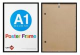 A1-black-ready-made-wood-poster-frame-with-clear-glass-large
