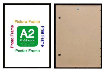 A2-black-wood -poster-frame-with-clear-glass