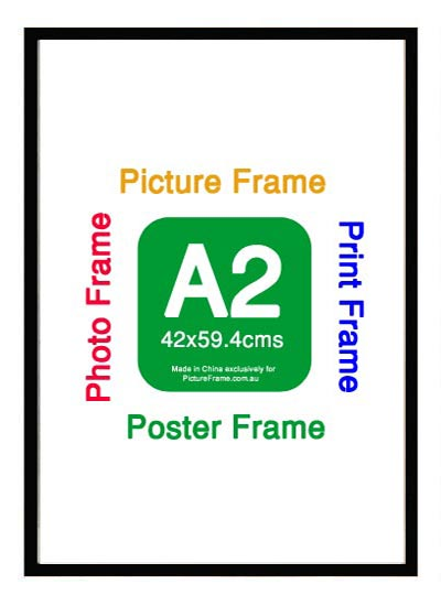 A2-black-wood-poster-frame-with-clear-plastic-glaze