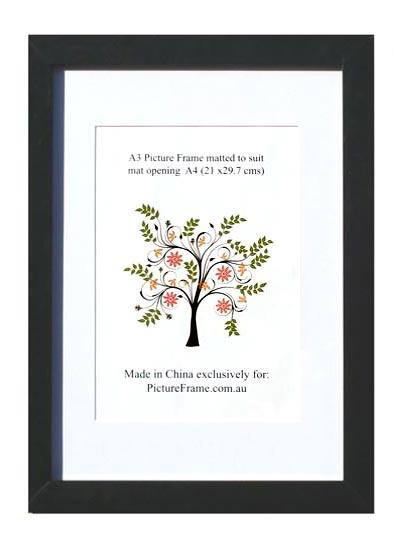 A3-black-wood-photo-frame-with-A4-opening-and-clear-glass