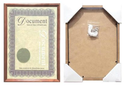 A3-brown-wood-australian-made-certificate-frame-with-clear-glass-large