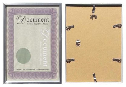 A3-silver-certificate-frame-with-clear-plastic-large