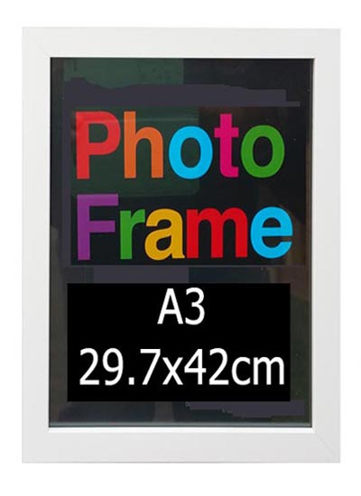 A3-white-wood-shadow-box-frame-with-clear-glass