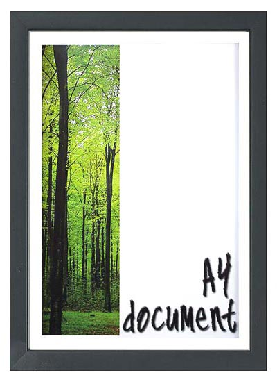 A4 black wood australian-made certificate frame with clear glass