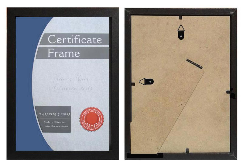 A4-black-wood-certificate-frame-with-clear-plastic-and-stand