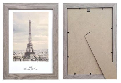 A4-driftwood-certificate-frame-with-clear-glass-and-stand