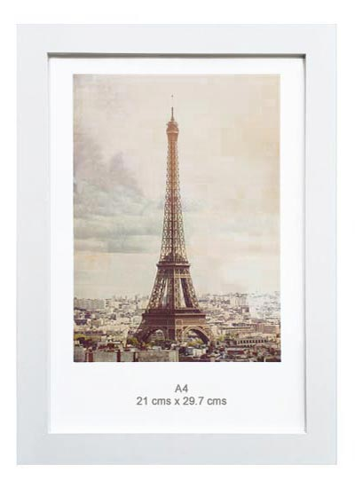 A4-white-wood-ready-made-wood-picture-frame-with-clear-glass