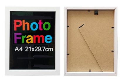 A4-white-wood-shadow-box-frame-with-clear-glass-and-stand-large