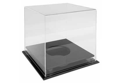 Netball Clear Acrylic Display Case (255Lx255Wx275Hmm)-large