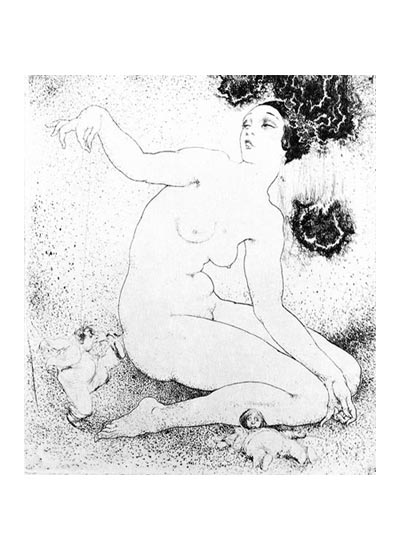 """Norman Lindsay's """"Dance, Puppet, Dance"""" (etched circa 1933, published in 2008)"""