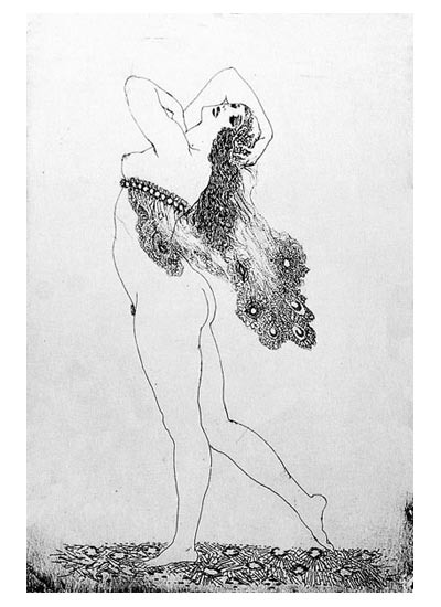 NormanLindsay-Facsimile-Etching-The-Lace-Head-Dress