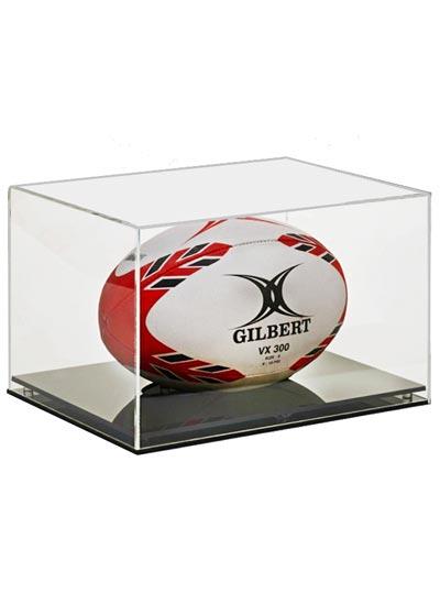 Rugby Ball Acylic Display Case (355Lx215Wx205Hmm)