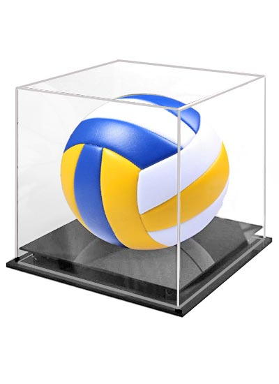 Volleyball Clear Acrylic Display Case (255Lx255Wx275Hmm)