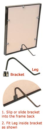 Picture-Frame-&-Photo-Frame-Steel-Curl-Stand-Kit-(Black)-details