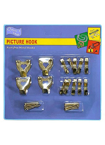 picture-hooks-and-wall-hooks-brass-plated-kit-of-14-assorted