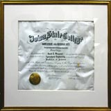diploma-cockling-under-picture-frame-glass
