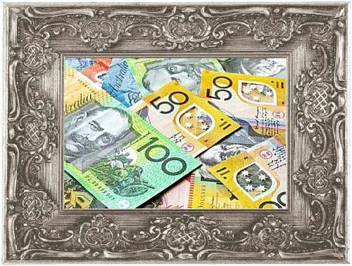 graphic of discounts savings when paying for custom picture frames in cash within-silver-ornate-picture-frame