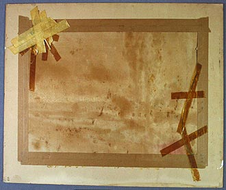 watercolour-damaged-by-incorrect-mountng-with-adhesive-tape