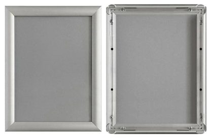 A4 Silver Aluminium Snap Frames large