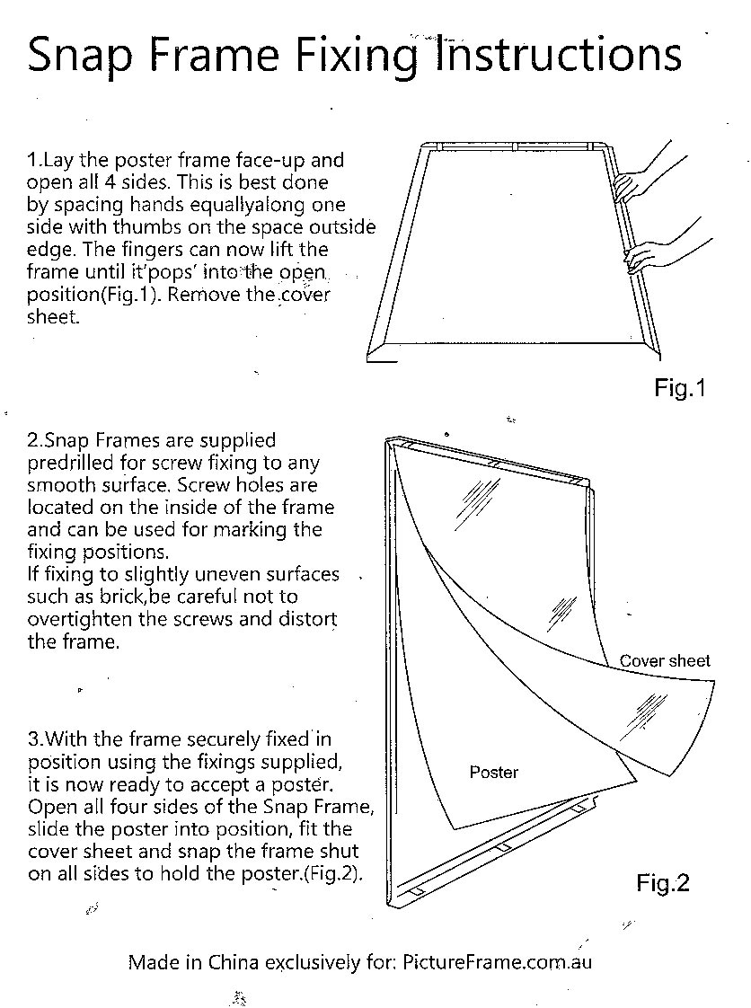 Wall-Mounted-Matt-Silver-Aluminium-Snap-Frame-Wall-Instructions