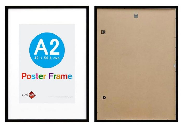 A2 Black wood poster frame with A3 opening