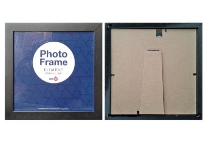 20x20cms-Black-Square-Plain-Wood-Frame-with-Clear-Glass-and-Stand-large