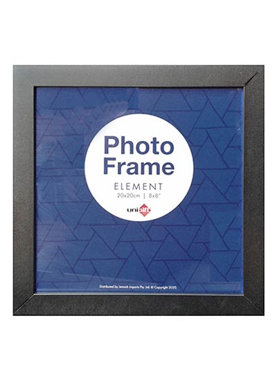 20x20cms-Black-Square-Plain-Wood-Frame-with-Clear-Glass-and-Stand