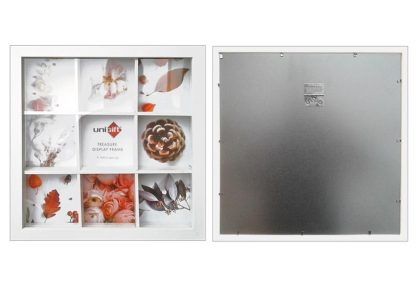 28x28cms-White-Wood-Collage-Frame-Organizer-(for-9-only-9x9cms-photos)-with-Clear-Glass-large