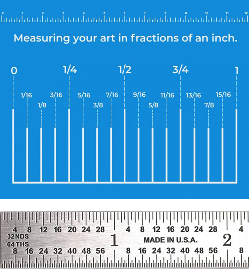example-of-USA-picture-framing-measurements
